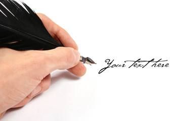 writing with feather