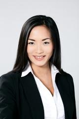 femme asiatique portrait sourire