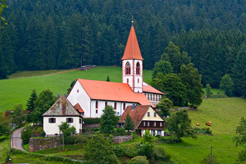 St Romam church in Wolfach, Schwarzwald, Germany