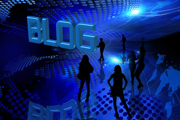 Blue blog background