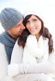 Fototapety winter couple