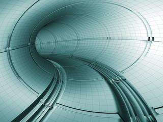 plano 3d de tunel