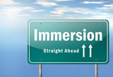 "Highway Signpost ""Immersion"""
