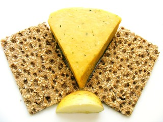 Crispbread Cheese and Apple