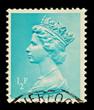 English Postage Stamp, circa 1971 to 1996