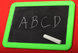 Alphabet on Chalkboard
