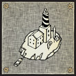 roleta: lighthouse woodcut