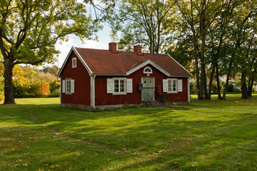 Swedish red cottage