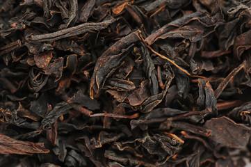 The dried up sheet black tea