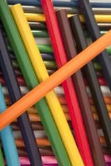 Assortment coloured pencils