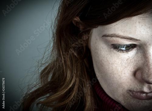 Leinwanddruck Bild Depression