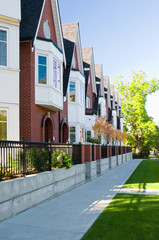 Urban view - townhouses or condominiums
