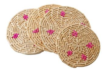Round handmade colored mats