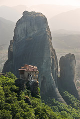 Monastery Roussanou And Rock Meteora, Greece