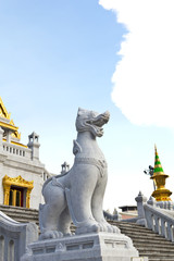 traditional thai lion statue