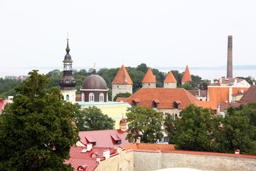 View on old city of Tallinn, Estonia