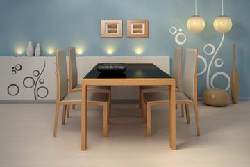 Design interior. Modern kitchen.