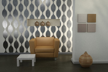 Design interior. Modern living room.