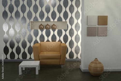 Design interior. Modern living room.