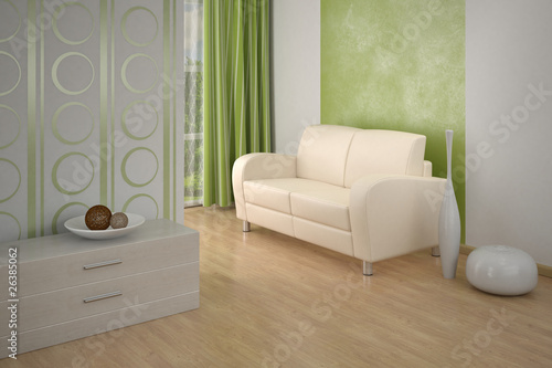 Design interior. Sofa in Modern living room.