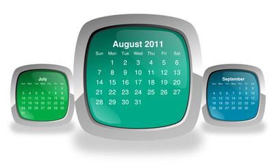 calendar for august 2011