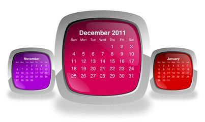 calendar for december 2011