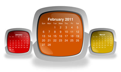 calendar for february 2011