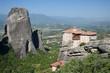 Monastery Roussanou And Valley Meteora, Greece