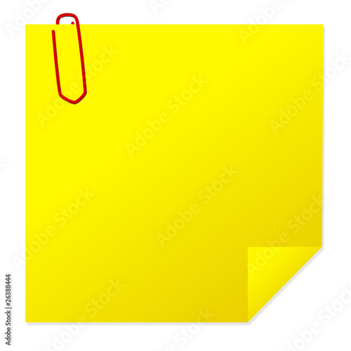 Post-it with paper clip