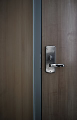 Modern office door with strong locking mechanism