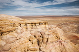 Bayanzag Flaming Cliffs Gobi Desert Mongolia Plain