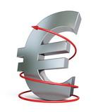 euro moving arrow poster