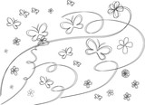 butterfly (Line Drawing) - abstract (minimalism) poster