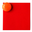 bouton magnet sur post-it rouge