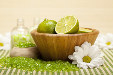 Lime bath salt