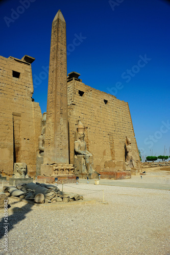 Luxor temple with obelisque