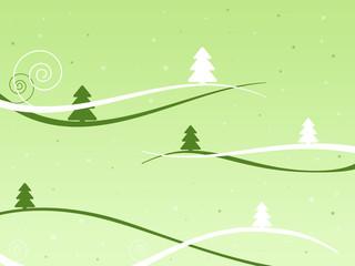 Weihnachtslandschaft grün