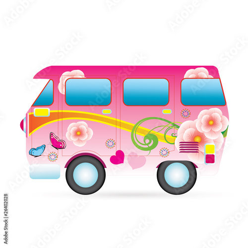 colorful peace van