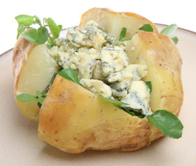 Jacket Potato with Blue Cheese and Watercress