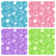 Seamless pattern of baby items