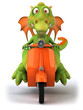 Dragon en scooter
