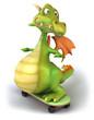 Dragon et skateboard