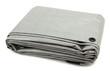 Leinwanddruck Bild - Folded Gray Tarp
