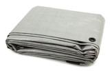 Folded Gray Tarp