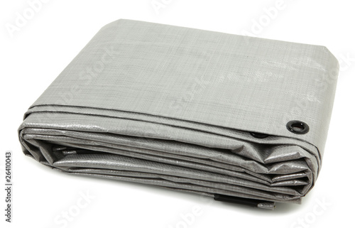 Folded Gray Tarp - 26410043