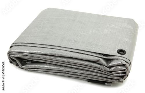 Leinwanddruck Bild Folded Gray Tarp