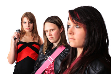 All girl teenage musical band