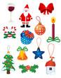 Christmas icons and symbols