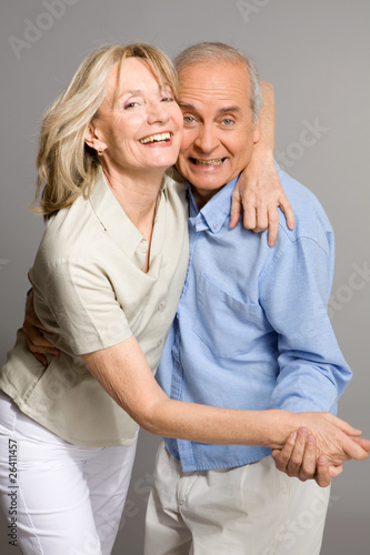 Crazy pensioners couple