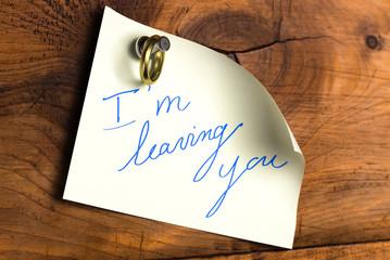 leaving a relationship - divorce or separation concept